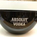 Absolut Vodka Eiswürfelschale / Eiswürfelbehälter / Flaschenkühler / Eisbox in schwarz mit Logo