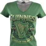 """Guinness Damen T-Shirt grün """"Luck of the Irish"""""""