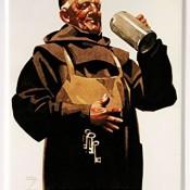 Franziskaner Blechschild